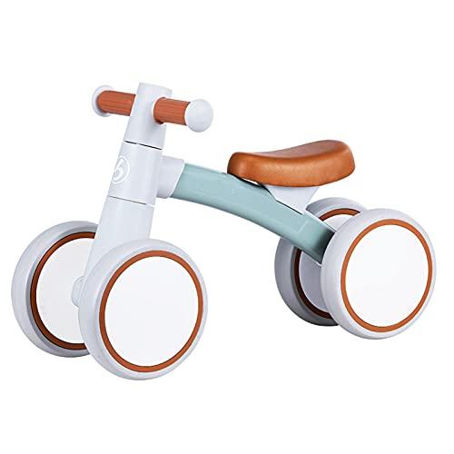 Bicicleta sin Pedales, Bici sin Pedales Niño,Triciclos Bebes Correpasillos para Ejercitar la Capacidad de Equilibrio de Niños,Bebes para Niños y Niñas 1-3 Año Regal(Size:59*36*24,Color:Té de jade-pro)