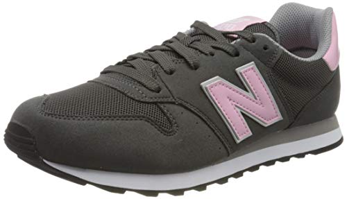 New Balance, Damen Sneaker, Grau (Grey/pink), 40 EU (6.5 UK)