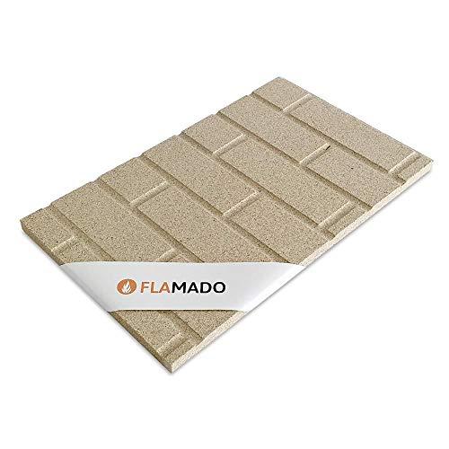 Flamado Vermiculiteplatten Steinwand Muster 500 x 300 x 25 mm I Schamotte Ersatz I Kaminofen Ersatzteile Feuerfeste Steine