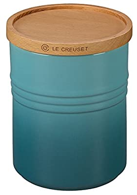 """Le Creuset of America 5 1/2"""" Canister with Wood Lid by Le Creuset of America"""
