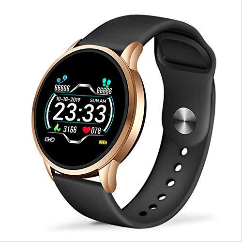 hope1 Reloj Inteligente para Mujer, Reloj Deportivo, Rastreador De Ejercicios A Prueba De Agua, Monitor De Presión Arterial, Podómetro para Android iOS Negro
