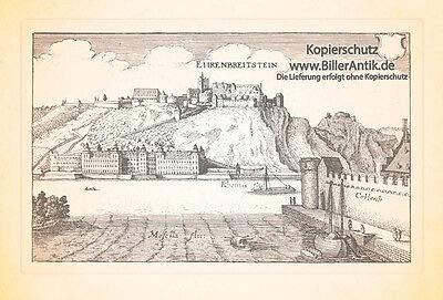 Kunstdruck Ehrenbreitstein Rhein Mosel...