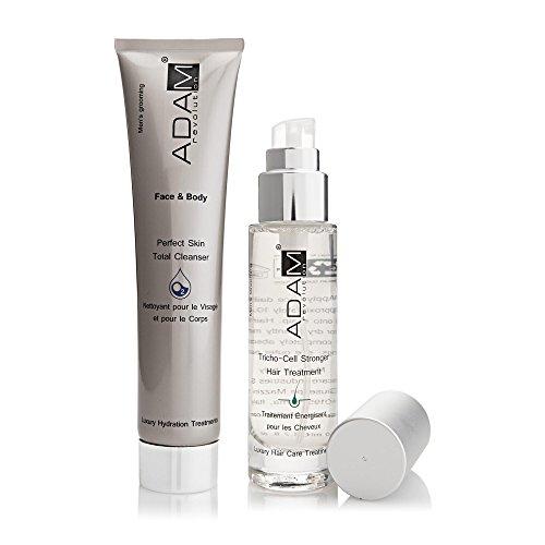 ADAM REVOLUTION Kit pour homme : Nettoyant Visage/Corps Oxygène, 200 ml + Traitement Energisant pour Cheveux, 50 ml