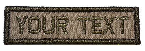 Customizable Text 1x3 Patch w/Hook Fastener Morale Patch - Coyote Brown