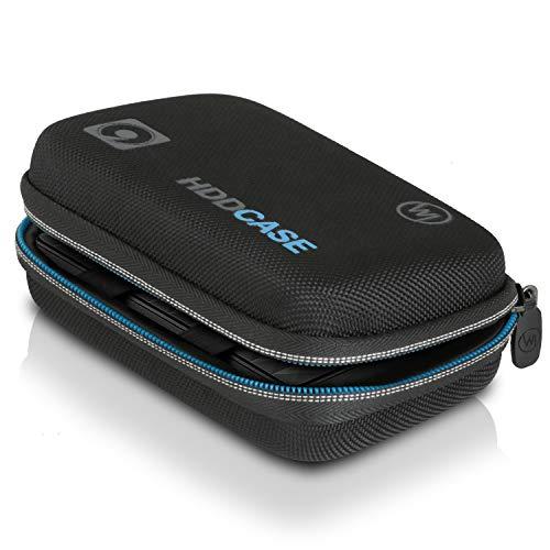 Wicked Chili Tasche für Externe Festplatte 2,5 Zoll SSD Hülle, Hülle, Festplattentasche kompatibel mit WD Passport Elements, Toshiba Canvio, Intenso, TV USB Stick (Netzfach, Innen: 12,8 x 8 x 3,5 cm)
