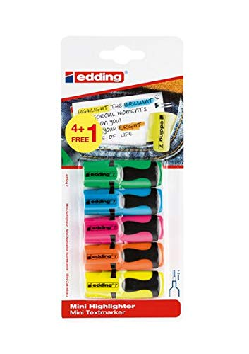 edding Mini Highlighter 4+1