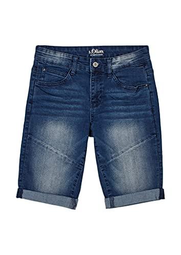 s.Oliver Jungen Regular: Bermuda-Jeans Dark Blue 170.Slim