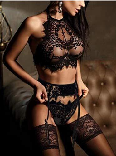 asdsad Lencería Sexy para Mujer Conjunto de Sujetador de Encaje Ropa Interior Conjunto de Vendaje de Bragas Sexy Conjunto de lencería erótica Vestido Conjunto de Bragas de Sujetador