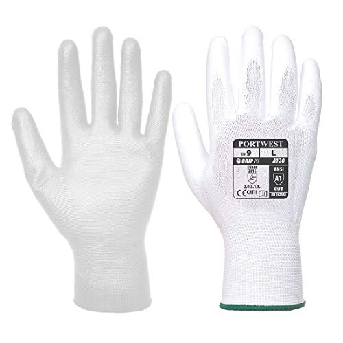 Portwest A120 - Handschuh PU Palm, Size: XX-Large, weiß, 1