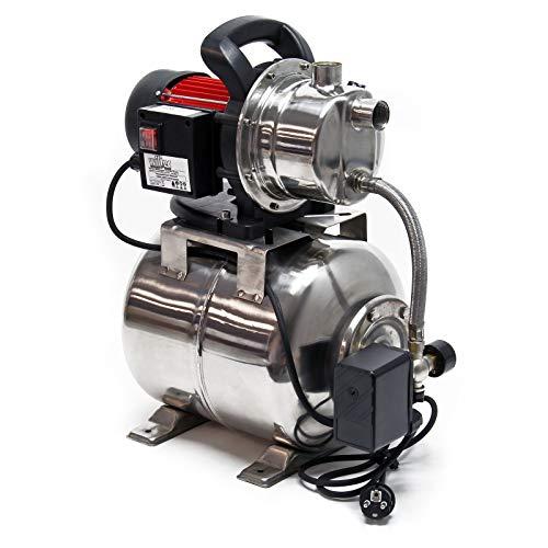Hauswasserwerk 1200W 3800l/h, Hauswasserautomat mit Druckschalter und 19l Membrankessel