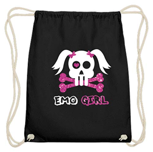 Emo Girl - Punk, Rock, Hardcore-Punk, Emotional Hardcore, Mode, Haar, Musikgenre, Jugend - Baumwoll Gymsac