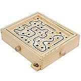 illuMMW Juego de laberinto de madera para mantener el equilibrio del grupo de escritorio, juego clásico de rompecabezas para niños y adultos