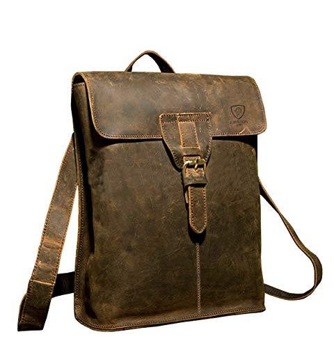 Designer J Wilson London Leather Backpack Handmade Casual Vintage Bag Briefcase Messenger College Schoolbag Case Satchel Travel
