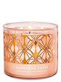 Bath and Body Works White Barn Champagne Toast 3 Wick Candle 14.5 Ounce Basic White Barn Label