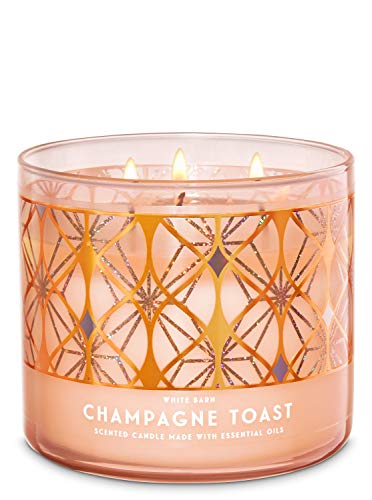 Bath and Body Works White Barn Champagne Toast 3 Wick Candle 14.5 Ounce...