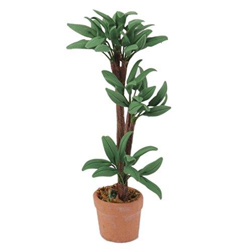 Gazechimp Puppenhaus Miniatur Topf Pflanze Grün 9cm Garten Landschaft modell