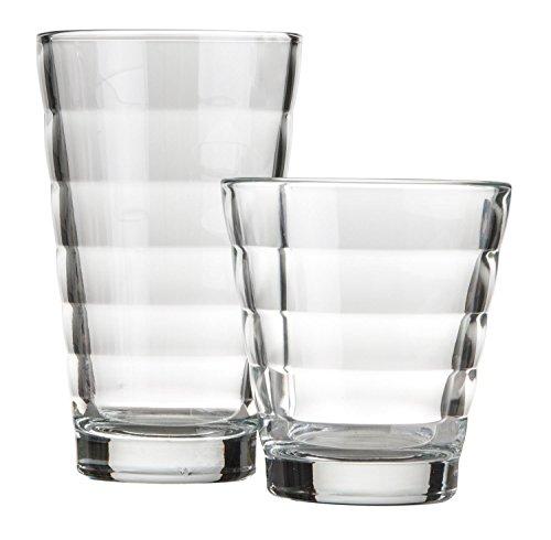 Becher-Set Gläer-Set, 12-tlg. Glas, 6x Whiskey, 6x Longdrink