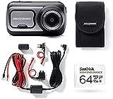 Nextbase 522GW Full 1080p / 60fps HD In Car Dash Cam Kit Kit Kit Kit Kit con Finestra Schermo Montaggio , Hardwire Kit Scheda SD 64GB e custodia protettiva inclusa