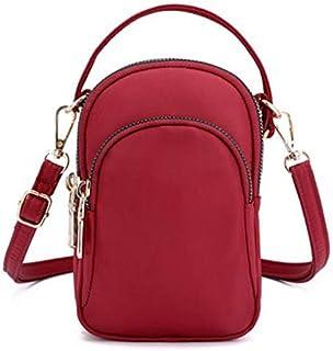 TOOGOO Women'S Shoulder Bag Fashion Handbag Crossbody Nylon Wallet Solid Color Zipper Waterproof Flap Crossbody Bag Black