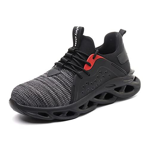 Unisexo Zapatos de Seguridad - Hombre Zapatillas de Trabajo con Punta de Acero Ligeros Calzado de Industrial y Deportivos Transpirables Anti-Piercing Zapatos de Trabajo