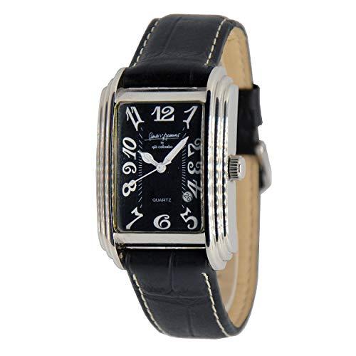 Reloj clásico Gabriele D'Annunzio by Giò Colombo de producción limitada con correa negra de piel auténtica.