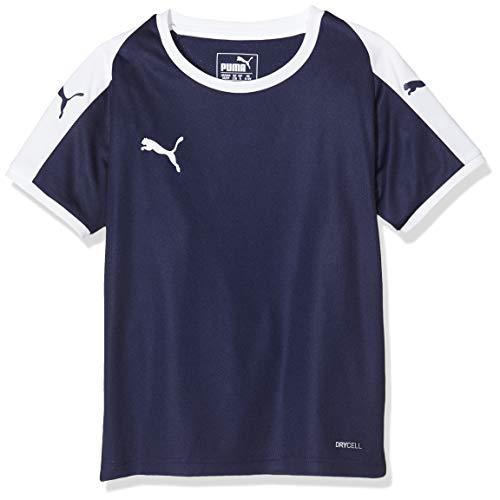 PUMA Kinder LIGA Jersey Jr T-shirt, Peacoat White, 128