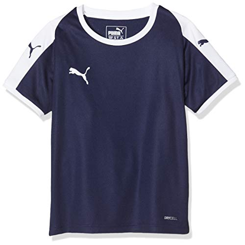 PUMA Liga Jersey Jr, Maglietta Unisex-Bambini, Blu (Peacoat/White), 116