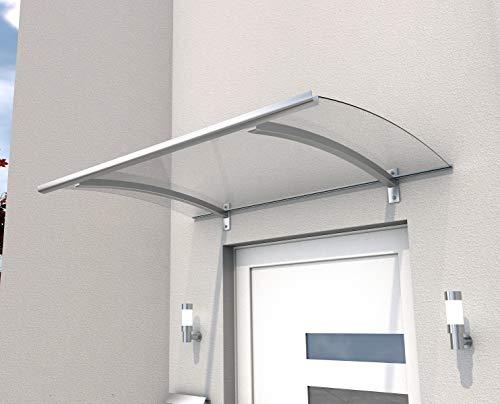 Vordach Haustürdach Vordachsystem PT/LD 150 x 90 cm Edelstahloptik