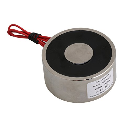BQLZR Silver Holding Electromagnet DC 12V 80Kg 65 x 30mm Simple Control