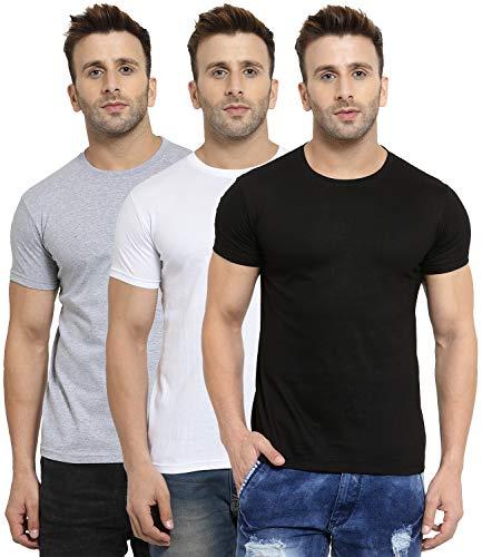 Scott International Men's Regular Fit T-Shirt (Pack of 3) (3RN-BL-WH-GR-XXL_Black, White & Grey_XX-Large)
