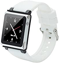 iWatchz CLRCHR22WHT Q Collection Wrist Strap for iPod Nano 6G-White