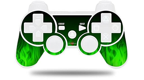 Sony PS3 Controller Decal Style Skin Max 82% Mail order cheap OFF Fire Green NO CONTROLLER -