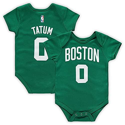 Outerstuff NBA Newborn Infants Team Color Name and Number Player Bodysuit Creeper (18 Months, Jayson Tatum Boston Celtics)