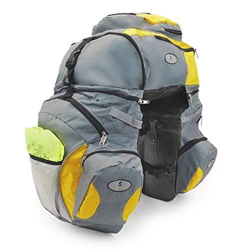 Cablematic - Alforjas portaequipajes para bicicleta convertible en mochila y desmontables
