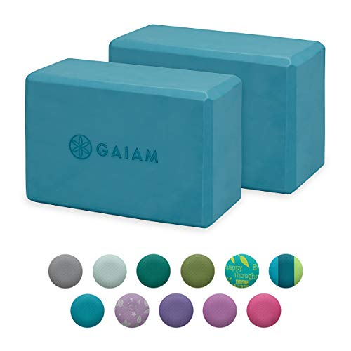 Gaiam Yoga Block (2 Pack) - Supportive Latex-Free EVA Foam Soft Non-Slip Surface for Yoga, Pilates, Meditation, Frost (2-Pack)