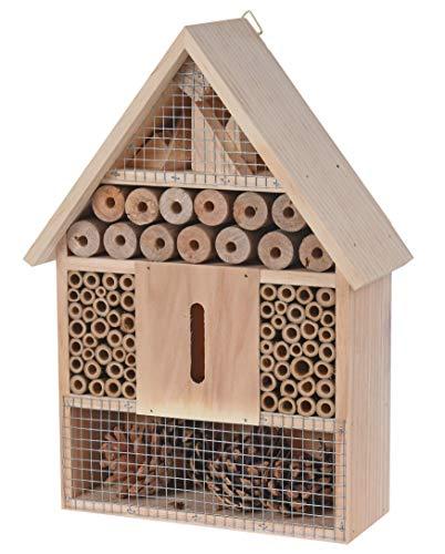 Spetebo Natur Insektenhotel zum aufhängen - 30 cm x 22 cm x 9 cm - Insektenhaus zum hängen
