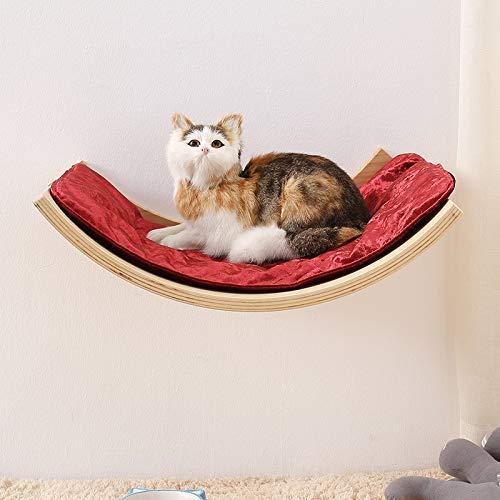 ZXL (50 * 38 * 14 Cm huisdier kat Nest kat hangmat houten plank huisdier benodigdheden kat kat huis bed vensterbank mini vier seizoenen universele kat nest