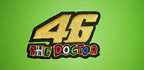 Aufnaher Toppa Blue Hawaii Patches/Aufnäher / Aufbügler Valentino Rossi, 46 The Doctor, 8,5 x 5 cm