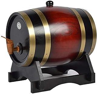 ウイスキー樽ディスペンサー、オーク熟成樽ホームウイスキー樽ワイン、スピリッツ、ビール、酒用、5L、レトロカラー