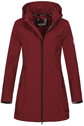 A. Salvarini Damen Softshell Jacke wasserabweisend Outdoor lang AS-131 [AS-131-Bordeaux-Gr.XS]