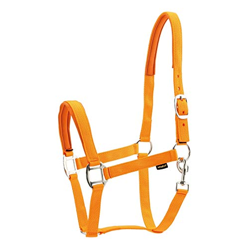 Horse Guard Nylonhalfter für Pferde - orange - Warmblut