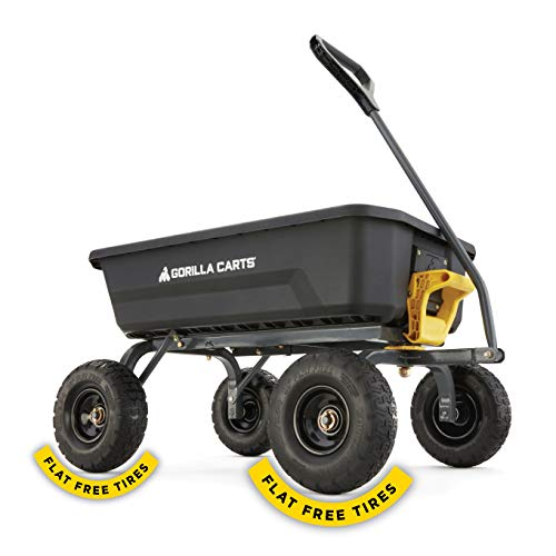Gorilla Carts 4 Cu. Poly Dump Cart with No-Flat Tires (Amazon Exclusive)