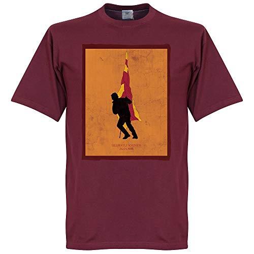 Ulubatli Souness Galatasaray Fahne T-Shirt - dunkelrot - XL