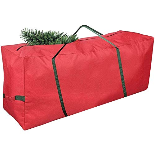 Kyrieval Christmas Tree Storage Bag High Capacity Fits Up to 7 ft. Canvas & Durable Xmas Decorations Container with Reinforced Handles and Zipper