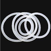 WYanHua-Oリングガスケット、座金・ワッシャー. 10ピースシリコーンOリングガスケット、ゴム絶縁丸形シールシールホワイト、防水ワッシャー 素材製 (Color : White, Size : OD 24mm)