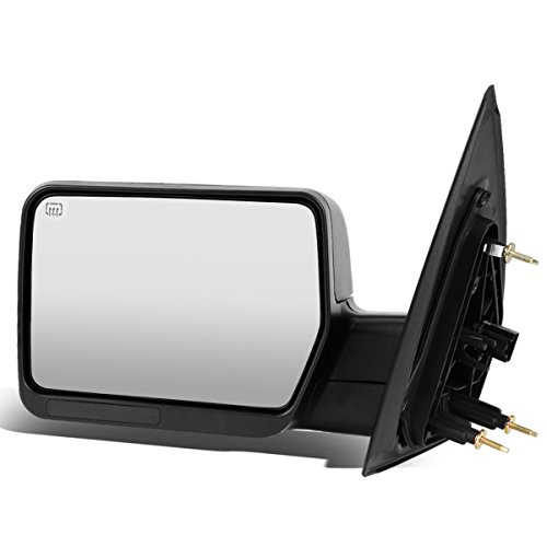 Left Driver Side Black Power Heated Glass Manual Folding Rear View Side Towing Mirror Replacement for Ford F-150 04-14