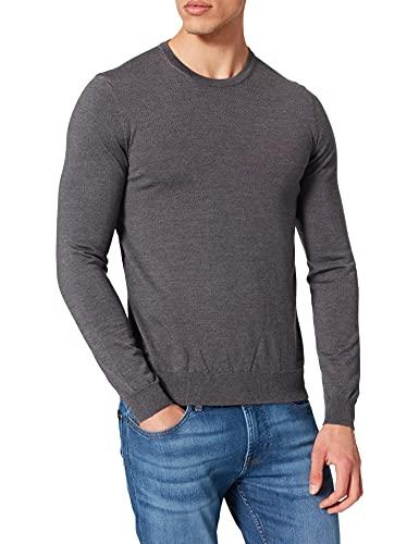 HUGO Herren San Paolo 3 Pullover, Medium Grey35, M