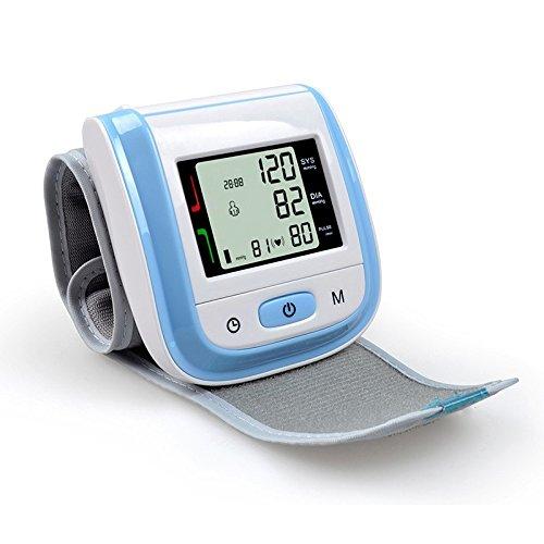 DNDN Monitor de la presión Arterial con Manguito de Banda Ancha para el Uso casero, Parte Superior del Brazo Digital automático medirse la tensión Arterial y el Pulso del Ritmo cardíaco,Azul