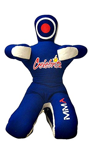Celebrita MMA Judo Punching Bag Grappling Dummy - Sitting Position Hands Front MMA382 (Choose Your Dummy) (Canvas-Blue, 70' Up to 55kg/121 lb)