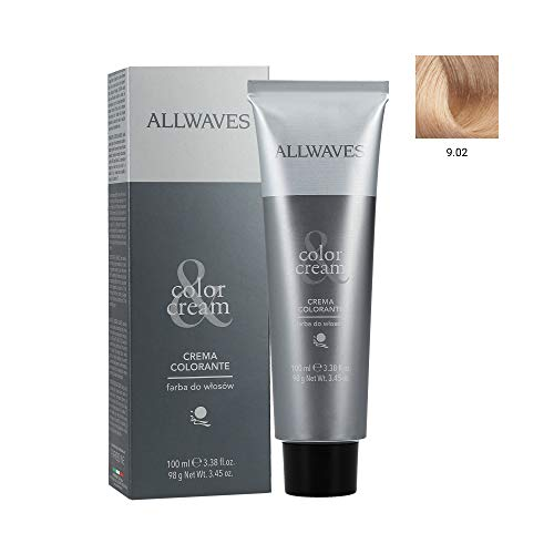 ALLWAVES Professionnelle Cream Color 9.02 Champagne Haarfarbe, 1er Pack (1 x 100 ml)